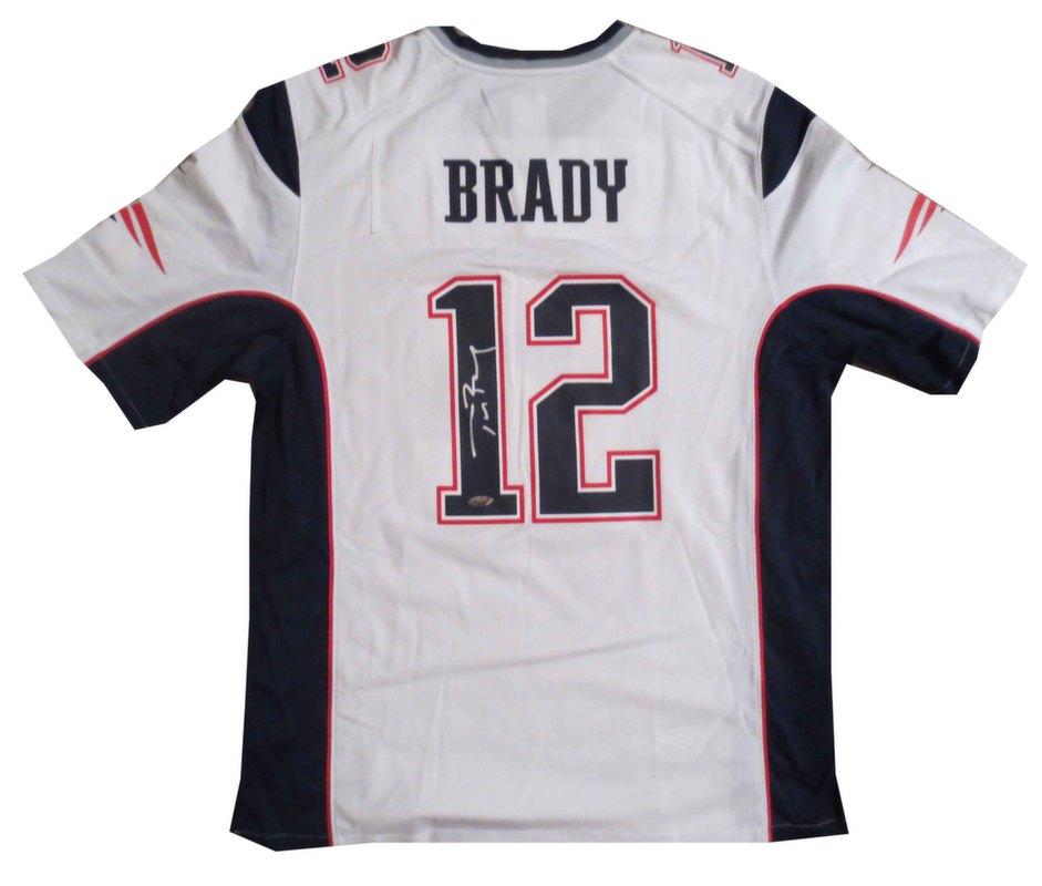 tom brady jersey white
