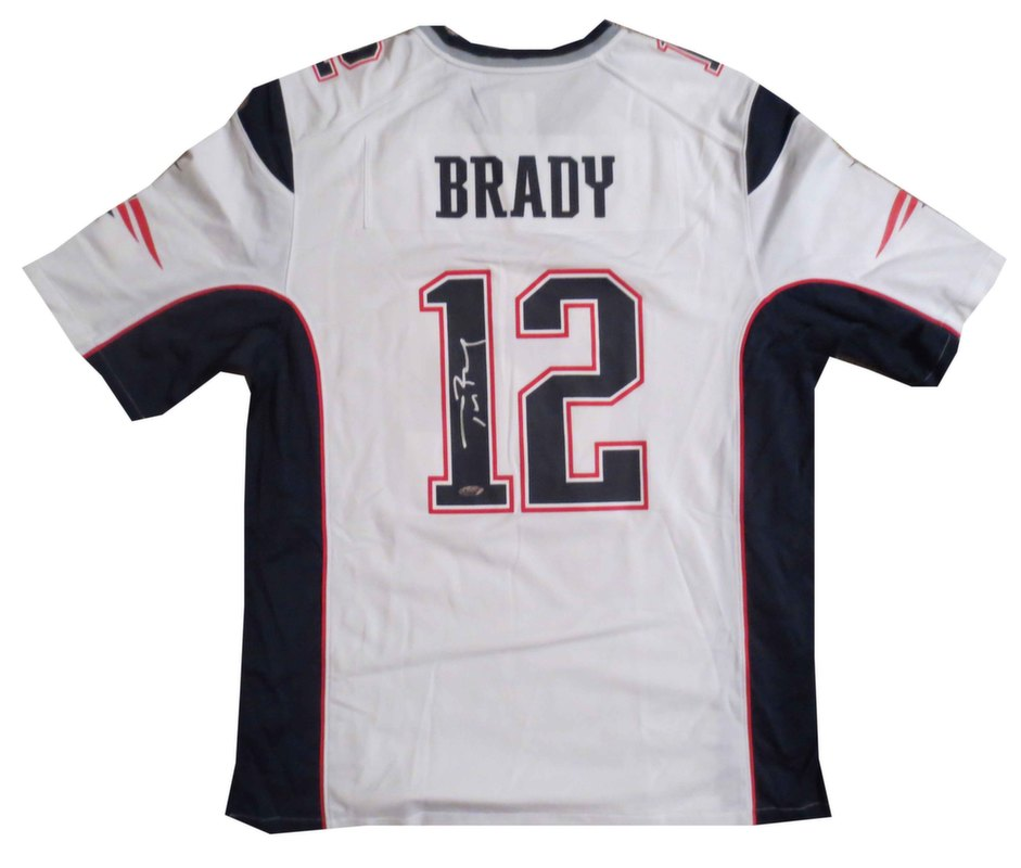 info for 6a3f9 00943 Tom Brady Signed Patriots White Jersey | Wholesale Cheap ...